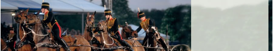 kings troop royal horse artillery gun team in action